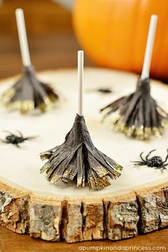 Halloween Treats - Broomstick Lollipops