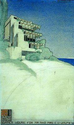 Rudolph Schindler, Wolfe Summer House - 1931