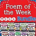 Poetry {Poem of the Week} MEGA Bundle Activity Packs 1-10 for first and second grade shared reading  These poems are great for use with shared read...