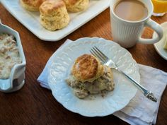 Buttermilk Biscuits with Sausage Gravy — Down-Home Comfort