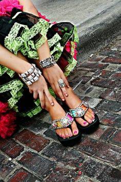 Gypsy Soule flip flops.... so cute