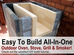 Amazing DIY All In One Outdoor Oven, Stove, Grill  Smoker
