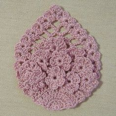 Pineapple with cluster flowers (chisako3.exblog.jp) crochet a little's facebook page