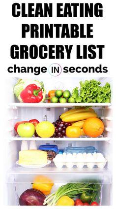 Clean Eating Printab