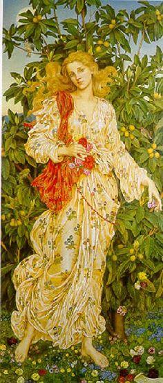 Evelyn de Morgan, Flora, 1894