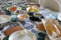 Marimekko in a Finnish home. LIFE & DECORATION #marimekko