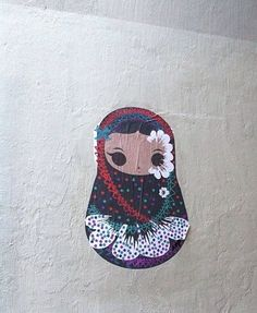 Matrioska en la pared