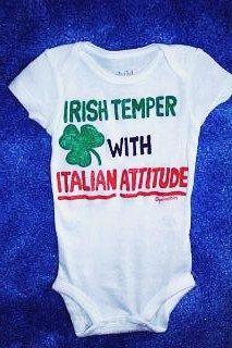 Irish Italian Baby Bodysuit Baby Clothes Irish Temper by Splashin