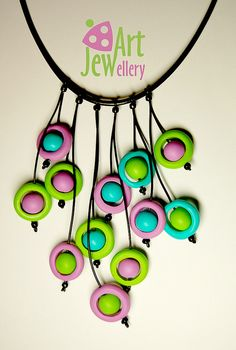 Necklace, Polymer Clay beads