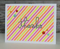 Thanks card made with washi tape