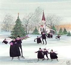 "P. Buckley Moss : ""Christmas Joy"""