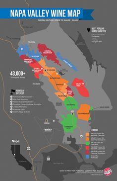 napa wines, wine region, napa valley, vino, valley wine, napavalley, infograph, travel, wine maps