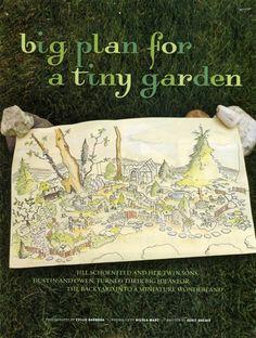 Big plan for a tiny garden.