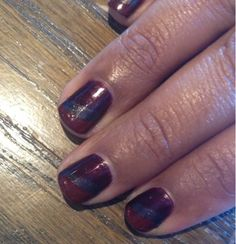 Diagonal nail art design