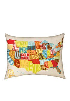 manual Woodworkers Across the Country Decorative Pillow