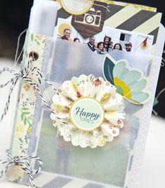 Happy Times Pocket Vellum Mini Album by Ashley Cannon Newell