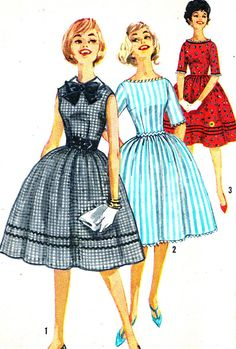 Vintage Sewing Pattern 1950s Simplicity 3528 by paneenjerez, $14.00