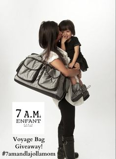 See why 7AM Enfant is the choice of celebrity moms! Enter to win a chic Voyage Bag! #7amandlajollamom