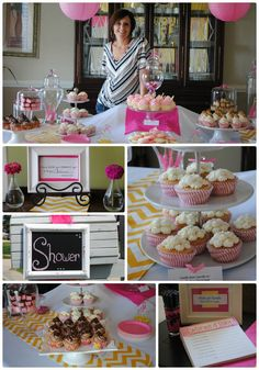 Pink and Yellow Chevron Dessert Table (and recipes)! @Liting Mitchell Wang Sweets #dessert #party