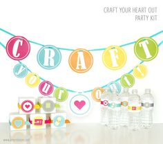 Craft Your Heart Out! Host a craft party with your friends. Print and cut files available for the Silhouette. www.amyrobison.com
