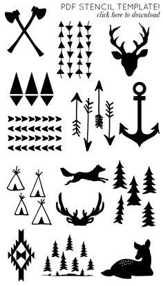 printable arrow and antler templates DIY