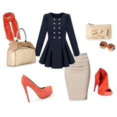 Love the colors and nautical jacket