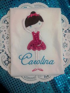 Personalized Ballerina Birthday Shirt for the guest of honor by BabyLoveFashion, $20.00