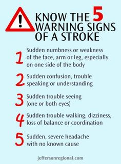 May is National Stroke Awareness Month - Know the Warning Signs   Jefferson Regional Medical Center