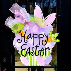 Easter Door Hanger, Easter Decoration, Easter Cupcake Door Hanger on Etsy, $45.00