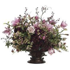 Hydrangea/ Rose/ Magnolia/ Berry Silk Flower Arrangement ARWF3911#silkflowerarrangements