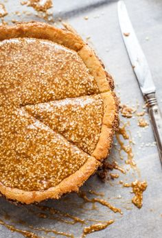 Sesame cheesecake