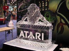 ghostbusters ice sculpture slimer atari