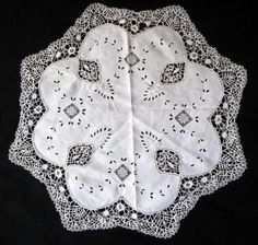 Linen Tablecloth Filet Crochet Bobbin Lace Embroidered Extra Nice Approx 33 | eBay
