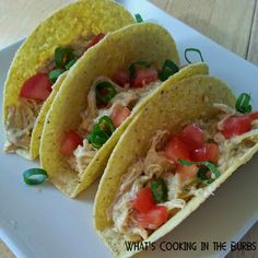 What's cooking in the burbs: Crock Pot Queso Chicken Tacos