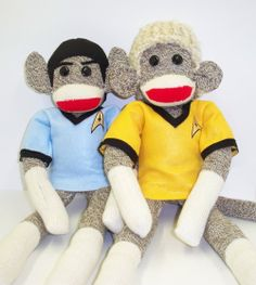 Kirk & Spock Sock Monkies