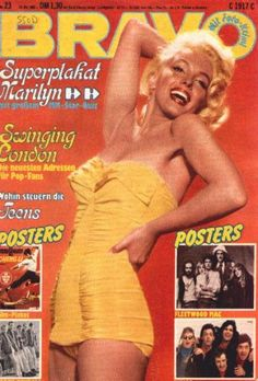 "Vintage Marilyn ""Bravo"" magazine cover"