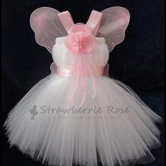 Tutu, Girls Fairy Costumes, Baby Fairy Costumes, Fairy Costumes, Pixie Costumes, Fairy Wings, Halloween Costumes by StrawberrieRose. $99.95, via Etsy.