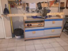 Dresser Miter Saw Station | Jays Custom Creations