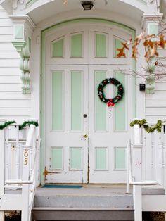 Christmas door.