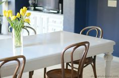 A Home Full Of Color: How To: Paint A Dining Room Table with Oil Based Paint