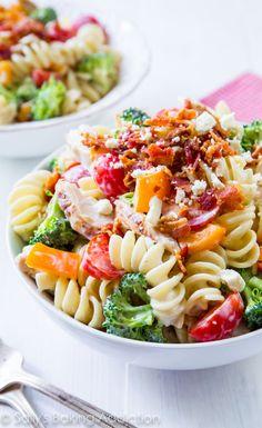 Creamy Bacon Chicken Pasta Salad
