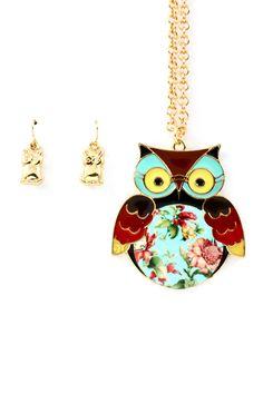 Shabby Chic Owl Pendant