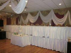 Wedding fabric decor