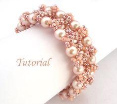 Pearl Blush Bracelet  Beading tutorial by Ellad2 on Etsy