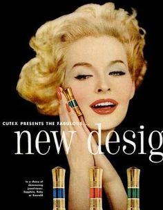 Sara Thom in Cutex Lipstick ad, 1958