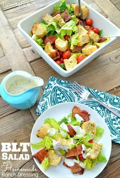 BLT Salad with Homemade Buttermilk Dressing at Tatertots and Jello