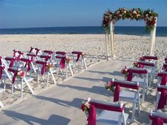 BEACH WEDDING PACKAGE Yes Those are real flowers on the 8 39 high and 8 39wide