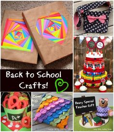6 fun back to school projects! Lots of tutorials on this blog! #backtoschool