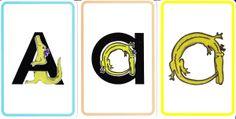 Zoo phonics flash cards