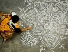 Chalk Art Mandala